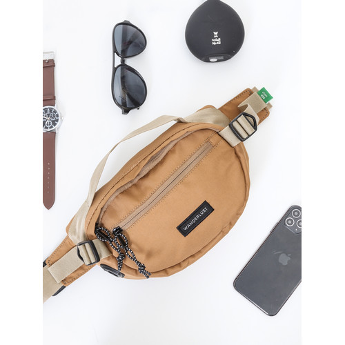 Foto Produk Wanderlust Waistbag Fannypack Hip Bag Tas Selempang Little Paris Khaki dari Wanderlustbag Official