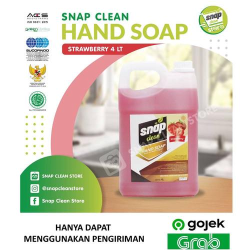 Foto Produk Snap Clean Hand Soap Sabun Cuci Tangan - 4L (Khusus Gojek & Grab) - Stroberry dari Snapclean Store
