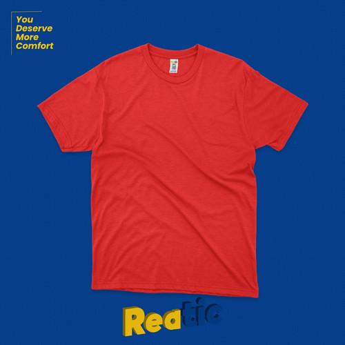 Foto Produk Reatic Kaos Polos Premium Ultrasoft Cotton Modal - Merah dari Reatic