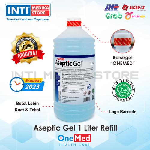 Foto Produk ONEMED - Aseptic Gel 1 Liter / Refill Hand Sanitizer / Antiseptic Gel dari INTI MEDIKA STORE