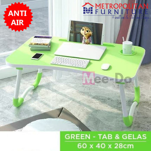 Foto Produk Meja Lipat Laptop MDF / Meja Belajar Anak Serbaguna / Folding Table - Hijau dari Metropolitan Furnitures