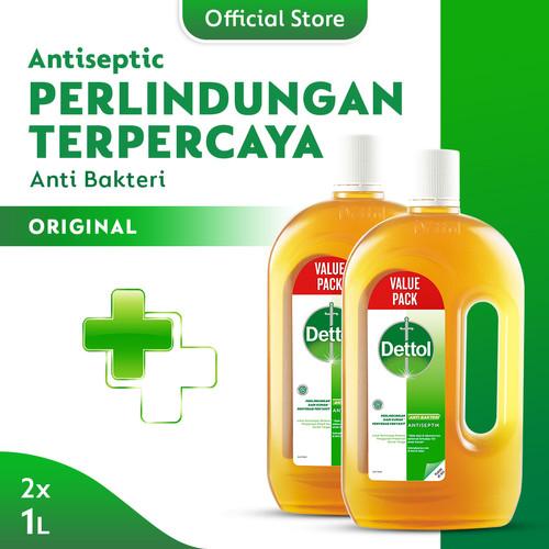 Foto Produk Dettol Cairan Antiseptik 1 Liter x2 Pcs dari Dettol Official Store
