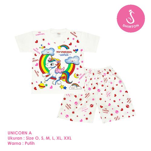 Foto Produk Baju Setelan Anak Perempuan My Unicorn Model A Shirton - UNICORN A, Size O dari shirton