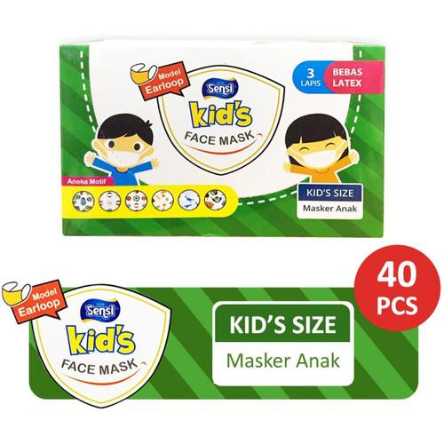 Foto Produk Sensi Kids Mask 3ply Earloop Motif Isi 40 Masker Medis Anak dari Gudang Sehat Store