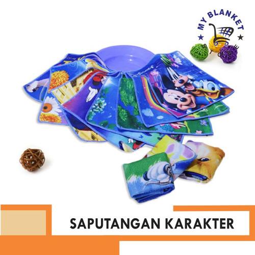 Foto Produk Sapu Tangan Karakter Ukuran 25cm x 26cm / Sapu Tangan Handuk - Random dari My Blanket Store