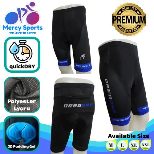 Foto Produk Celana Sepeda Padding Gel MTB Stretch Oregone (BGP-01) - Biru, XL dari Mercy Sports