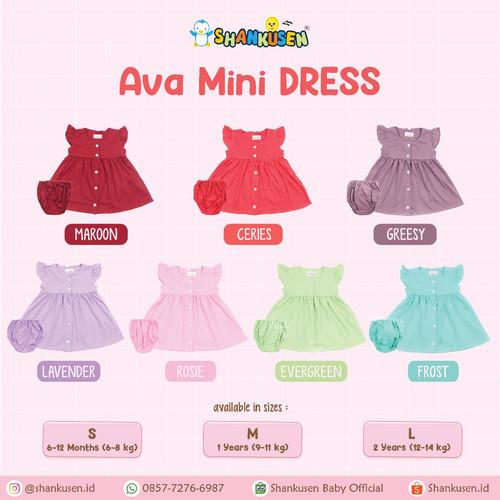 Foto Produk Shankusen Ava MIni Dress/ Shankusen Dress Bayi (1 pc) - Frost, L dari Shankusen Baby Official
