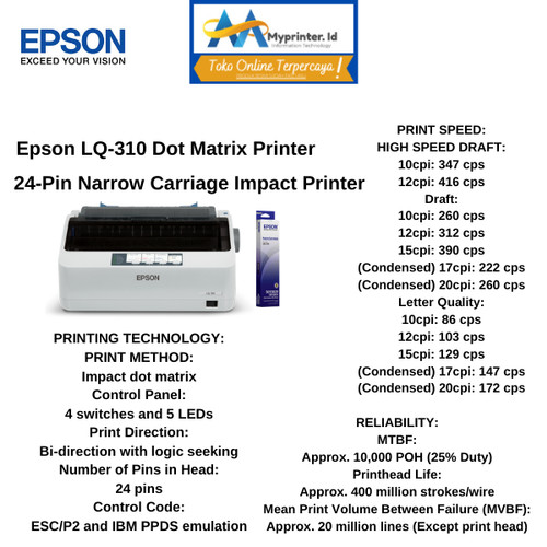 Foto Produk Epson LQ310 Dot Matrix Pinter dari myprinter.id
