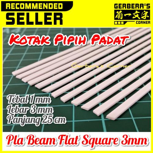 Foto Produk Plastic Beam Flat Square 3mm Pla Beam Plastic Plate Custom Model Kit dari Gerbera's Corner