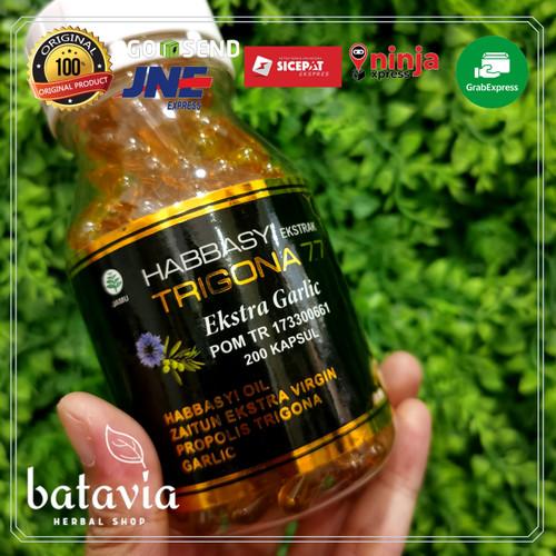 Foto Produk Habbasyi trigona 77 extra garlic 200 kapsul POM habbatussauda garlic dari Batavia Herbal Shop