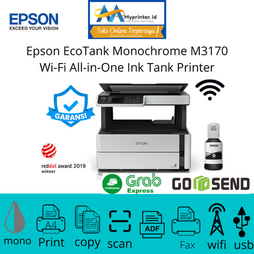 Foto Produk Epson EcoTank Monochrome M3170 Wi-Fi All-in-One Ink Tank Printer dari myprinter.id