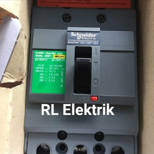 Foto Produk MCCB SCHNEIDER EZC100F 3 PHASE 60A 75A 80A 100A - 100A dari Rezeki Lancar Electric