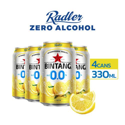 Foto Produk Radler Zero Lemon 0% Soft Drink 330ml Can Multipack 4 dari Drink Corner Bekasi
