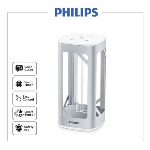 Foto Produk Philips UVC Disinfection Desk Lamp Silver dari Philips Audio Official