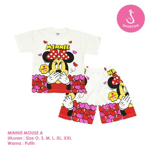 Foto Produk Baju Setelan Anak Perempuan Minnie Mouse Model A Shirton - MINNIE A, Size O dari shirton