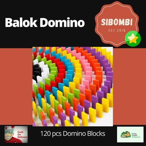 Foto Produk Mainan Anak ketangkasan Balok Domino 120 PCS ROXPORT dari Sibombi