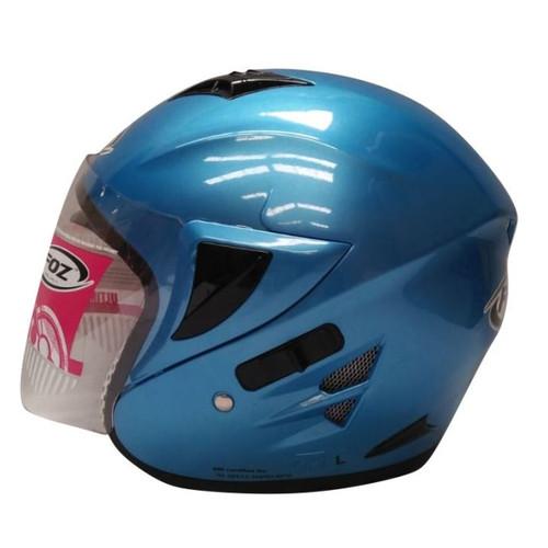 Foto Produk Helm Half Face Foz Voltus Solid Ice Blue L dari GudangHelm