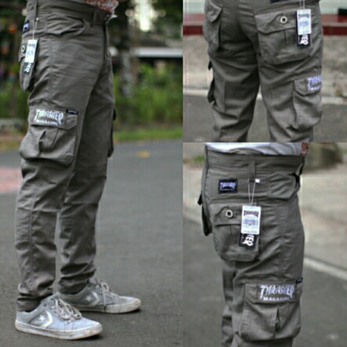 Foto Produk THREASER Celana panjang pria/panjang cargo dari Batik BTC solo