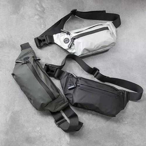 Foto Produk Tas Selempang Pria Waterproof Waist Bag Import Chest Sling Bag Men - Hitam dari Jagonya Case