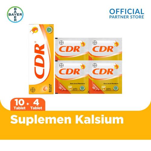 Foto Produk CDR Suplemen Kalsium Rasa Jeruk 10 Tablet & CDR 4 Sachet dari Bayer Health Partner