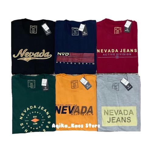 Foto Produk Kaos Nevada Full Hangtag - Hitam, L dari Aqika_Distro