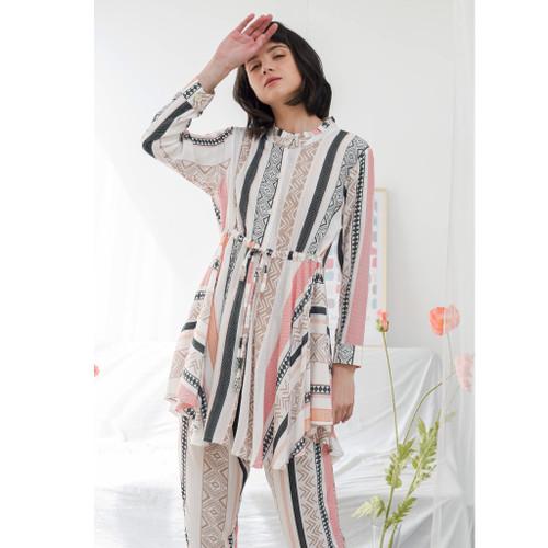 Foto Produk Raha x Fit Me Dailywear Set 1 / Sleepwear Piyama / Stelan Tunik dari Raha Sleepwear