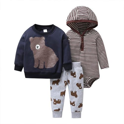 Foto Produk Sweater Jaket Set Motif Brown Bear - 3-6 Bulan dari jemari bayi
