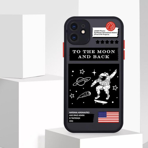 Foto Produk HYBRID NASA MOON & BACK CASE IPHONE 7 8 7/8plus X Xs Max XR 11 pro max - 7/8/SE2 dari Thecasesdiary