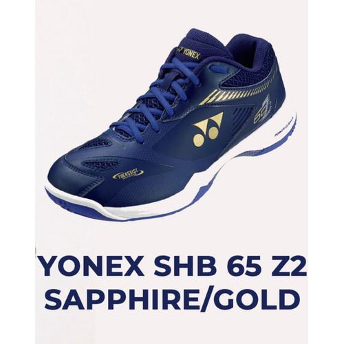 Foto Produk Sepatu Yonex Shb 65 z2 momota / sapphire navy / gold dari Racketku