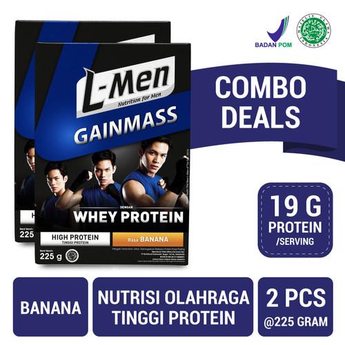 Foto Produk Twin Pack: L-Men Gain Mass Banana 225gr dari NutriMart