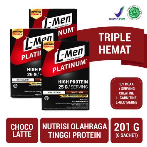 Foto Produk Triple Pack: L-Men Platinum Choco Latte Box (6 Sch) dari NutriMart