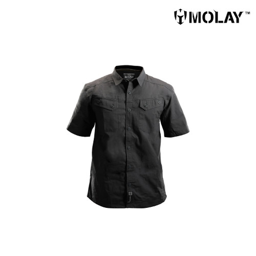 Foto Produk Kemeja Molay Velox Recon Short Sleeve - Raven Shadow, S dari Molay