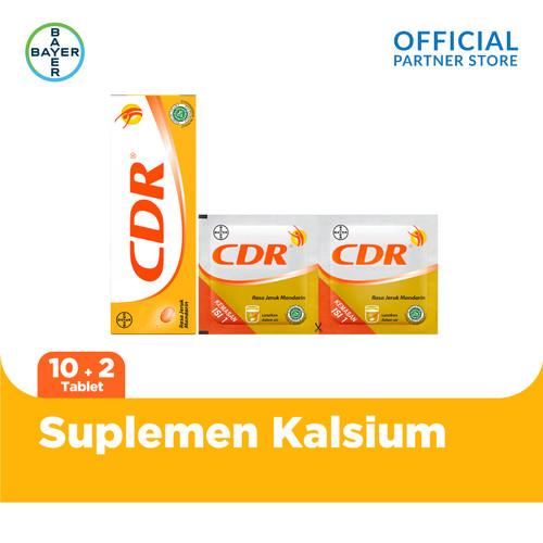 Foto Produk CDR Suplemen Kalsium Rasa Jeruk 10 Tablet & 2 Sachet dari Bayer Health Partner