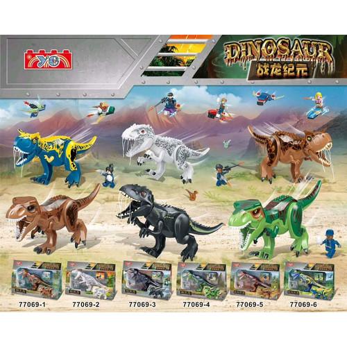 Foto Produk 77069 Lego Dinosaurus Carnotaurus, T-Rex, Indoraptor, Indominus Rex - 3 dari Wil Toys