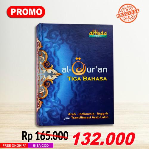 Foto Produk Al-Quran Tiga Bahasa (Indonesia, Arab, Inggris) dan Latin dari Grosir Produk Muslim