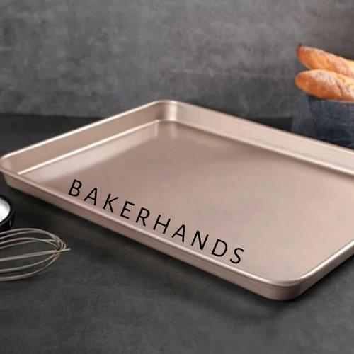 Foto Produk Loyang cookies persegi/cookies tray rectangle - MEDIUM dari Bakerhands