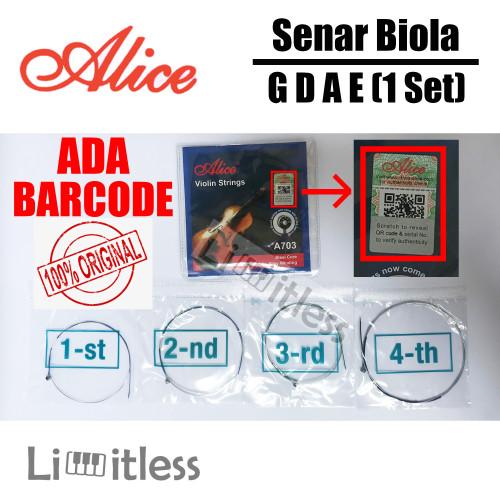 Foto Produk Senar Biola / Violin Strings 1/2 3/4 4/4 Alice A703 Original dari Limit-less Store