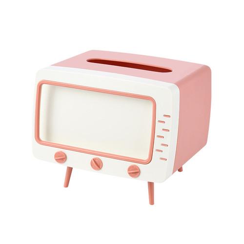 Foto Produk Tempat tissue bentuk TV RETRO READY - Merah Muda dari eheels_shoes