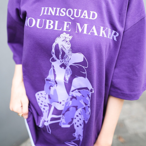 Foto Produk JINISO T-Shirt Jinisquad Oversize Purple Tee | Kaos dari JINISO.ID
