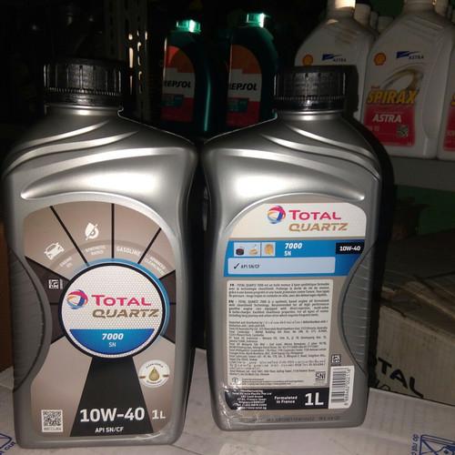 Foto Produk Oli mesin total quartz 7000 10w40 api sn/cf bensin diesel original dari Toko mulya oil shop