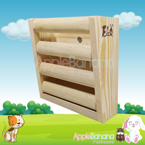 Foto Produk hay rack /tempat hay model kayu dari Apple Banana Pethouse