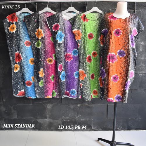 Foto Produk Grosir Daster Midi Rayon Murah Baju Tidur Kode 15 dari Rumah Batik Pekalongan 2