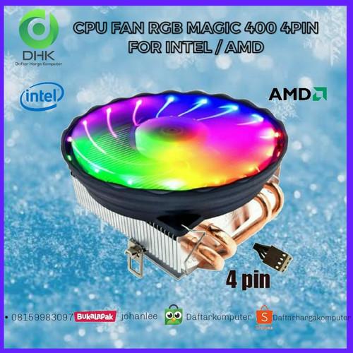 Foto Produk Cpu Fan Cooler Ice Magic M400 LED For Intel Dan Amd dari daftar harga komputer