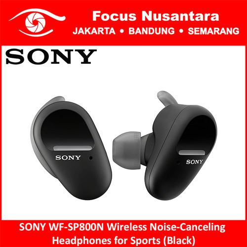 Foto Produk SONY WF-SP800N Wireless Noise-Canceling Headphones for Sports dari Focus Nusantara