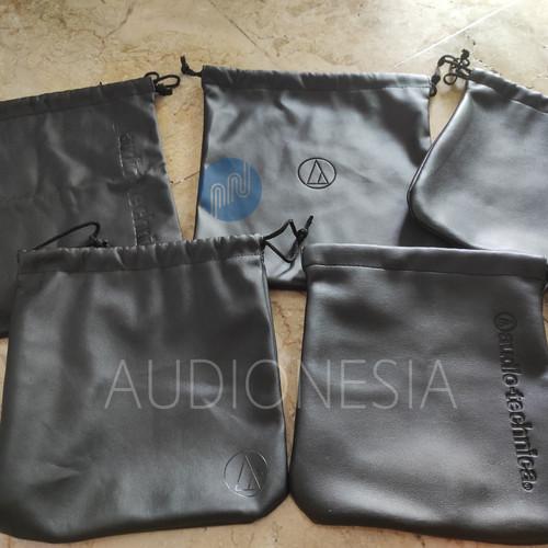 Foto Produk Original Pouch Case Audio Technica ATH Leather JDM Headphone - Random dari Audionesia