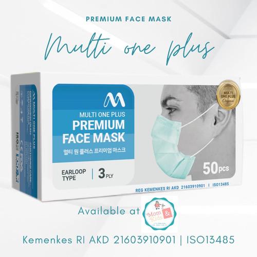 Foto Produk Masker Medis Earloop Multi One Plus 3 ply ( 50 pcs ) dari Toko Susu Mom n Kids