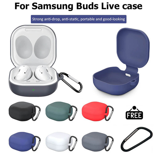 Foto Produk Silicone Case Cover for Samsung Galaxy Buds Live with Keychain - Soft - Hitam dari Logay Accessories