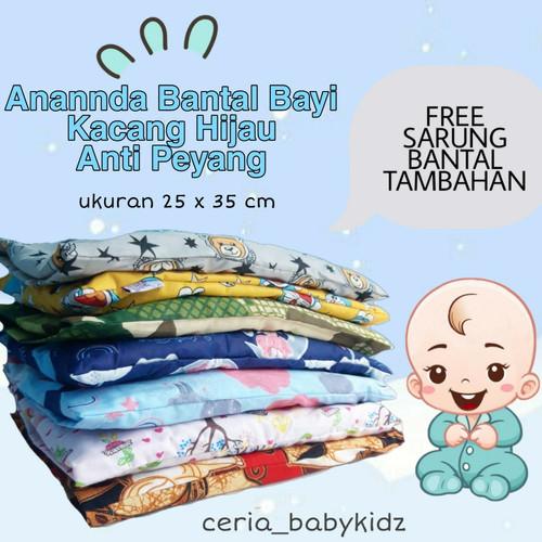 Foto Produk Bantal Olus Anti Peang Kulit Kacang Hijau Merk Anannda - Motif C dari Ceria BabyKidz