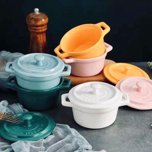 Foto Produk Ceramic Bowl with Lid / Mangkuk Sup Keramik Microwave Safe dari Mode Shop Online Store