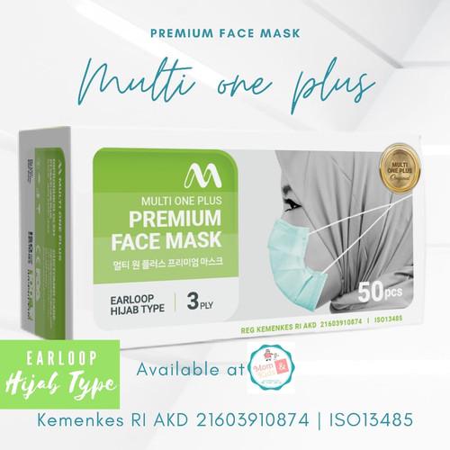 Foto Produk Masker Hijab 3 ply Multi one Plus 50 pcs dari Toko Susu Mom n Kids